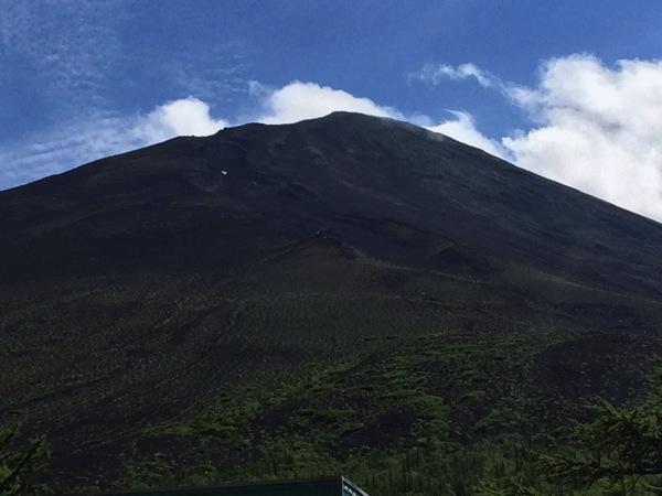 五合目から見た富士山