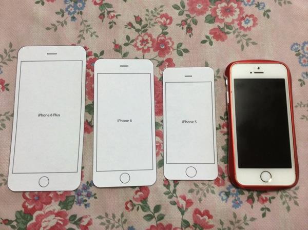 iPhoneの型紙