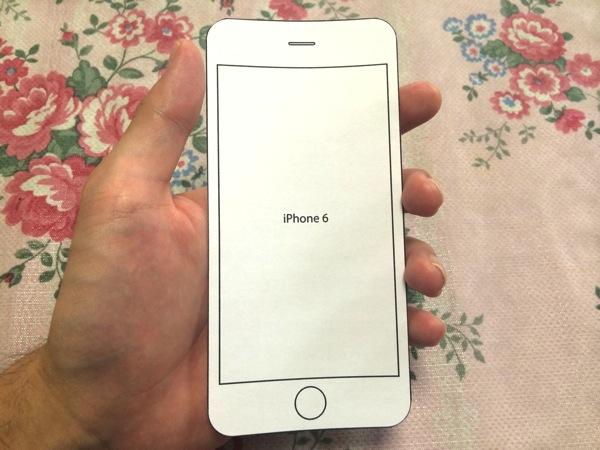 iPhone6を手に持った感じ