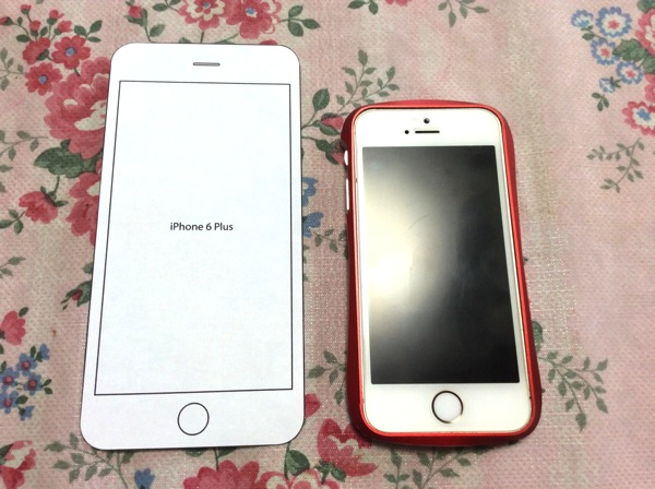 iPhone6PlusとiPhone5sとの比較