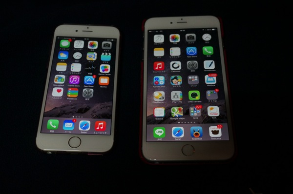 iPhone6とiPhone6Plus