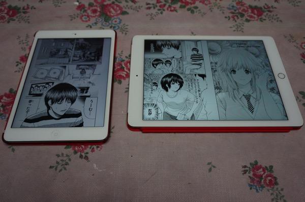iPadminiとiPadAir2の比較