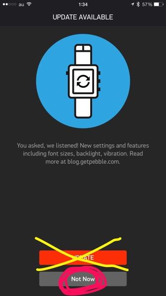 PebbleのiPhoneアプリ