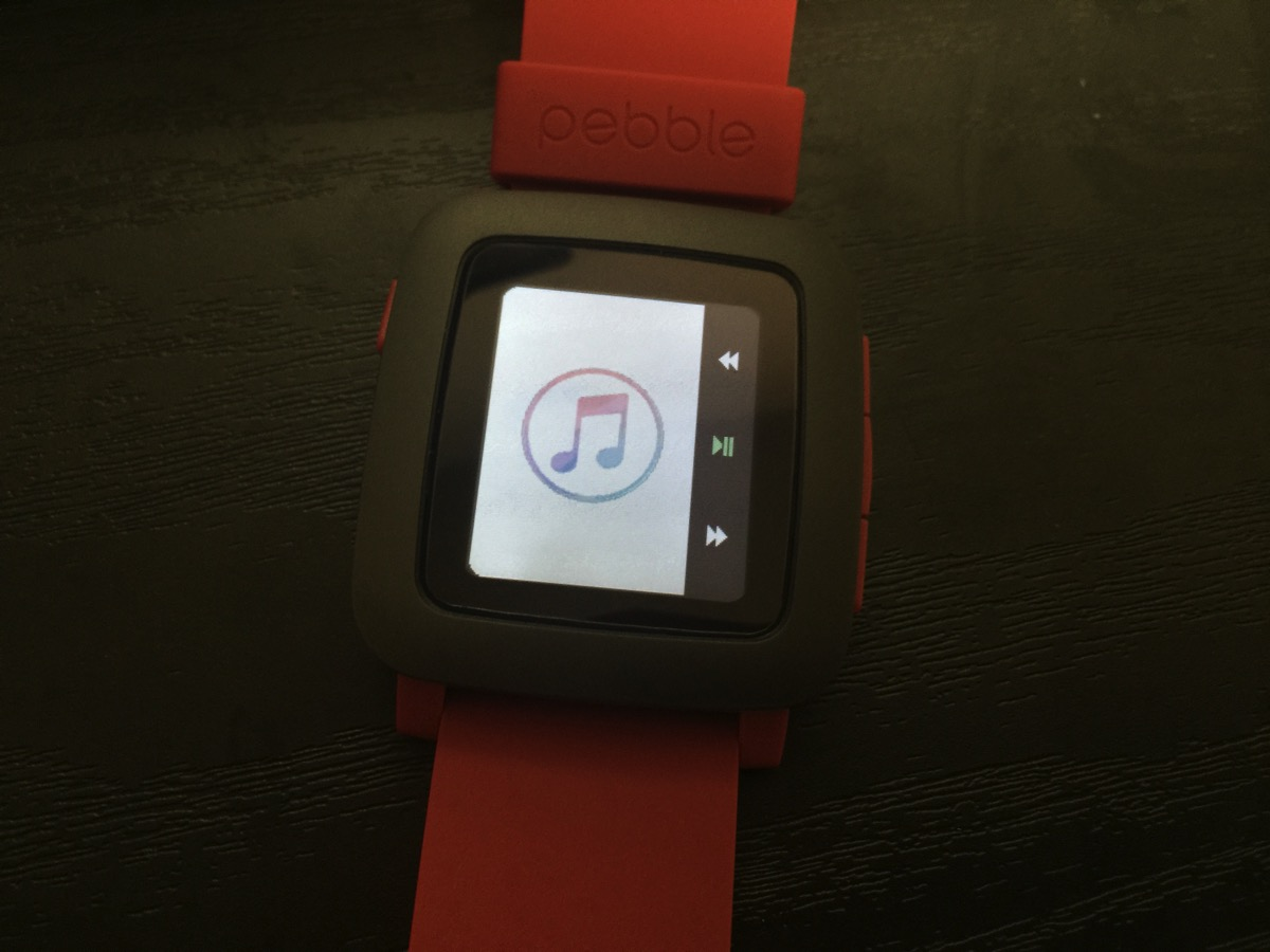 itunes remoteをpebble timeで試している