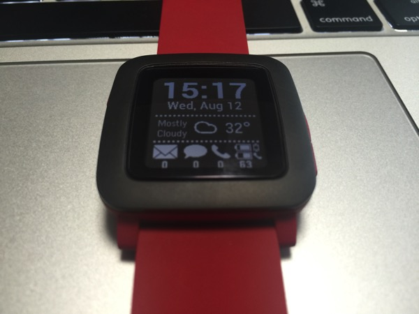 smartwatch+のメイン画面