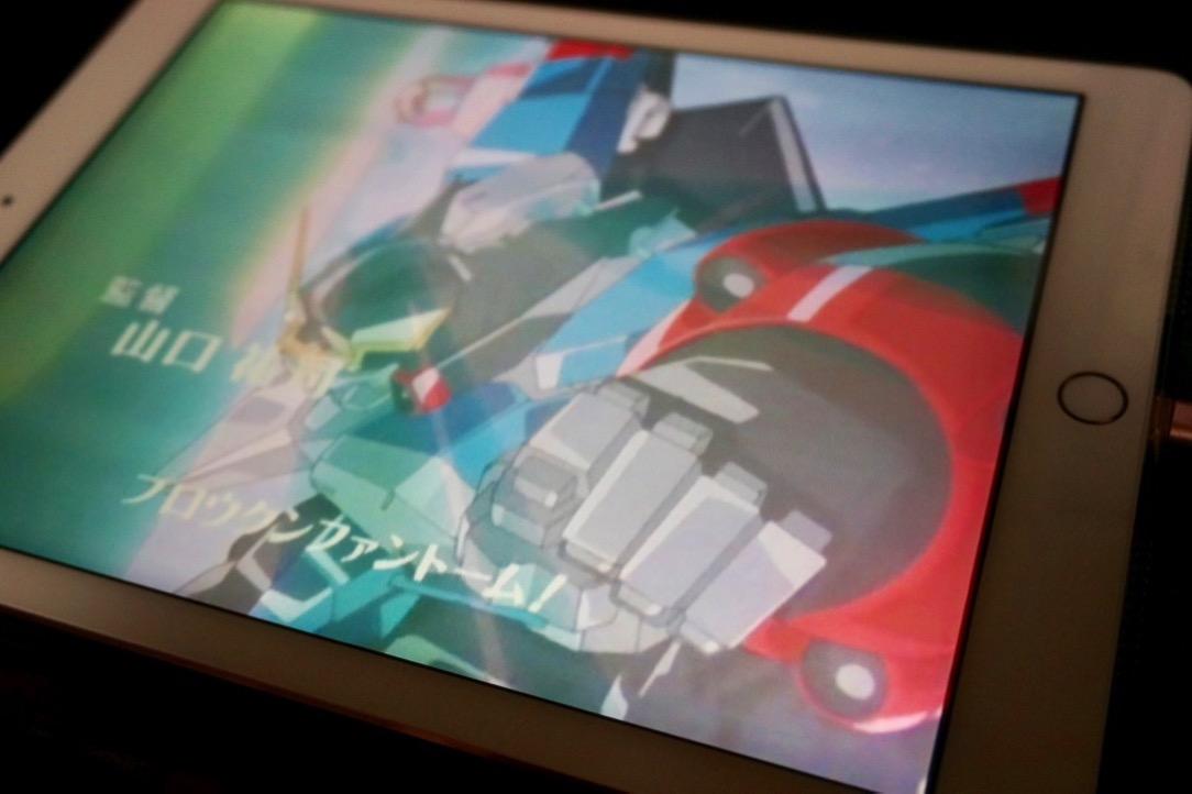 iPadで動画ファイルを再生している