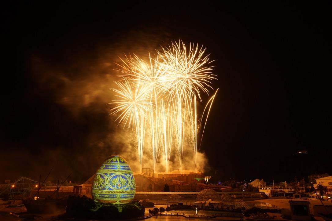 ラグーナの花火で上手く撮れた写真