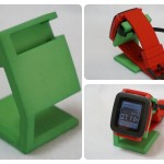 Pebble Time用の充電スタンドを3Dプリンタで作ってもらった