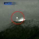 メキシコにUFO襲来!?光る物体が火山に入る瞬間の動画!