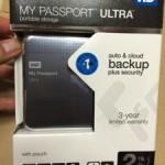 TimeMachineに!写真のバックアップに!とにかくデータが沢山入る大容量ポータブルHDD!WD My Passport Ultra 2.0TB チタニウムを購入した!